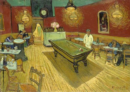 Van Gogh, Vincent: The Night Cafe, 1888 (Le Cafe de Nuit). Fine Art Print/Poster. Sizes: A4/A3/A2/A1 (00269)